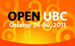 Full Schedule of Open UBC – Open Access Week 2011 Events