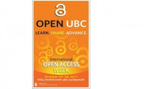 Highlights of Open UBC – Open Access Week 2012