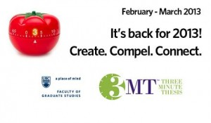 3MT is back for 2013
