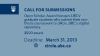Popular GSS cIRcle Open Scholar Award FAQ