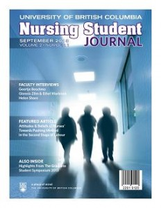 New to cIRcle: UBC nursing student journal – the Sept 2013 issue
