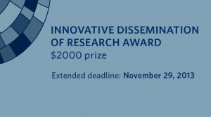 Deadline extended for 2014 Innovative Dissemination of Research Award – Nov. 29