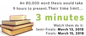 UBC Three Minute Thesis (3MT) Final Competition is back again