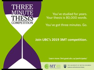 Top five things to know about 2019 UBC 3MT