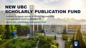 New Scholarly Publication Fund arrives at UBC