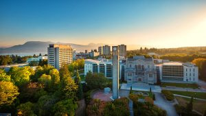 An aerial view of UBC campus. Photo credit: UBC